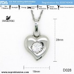 D028 Noproblem Ion Balance Health Necklace with Swarvoski Crystal