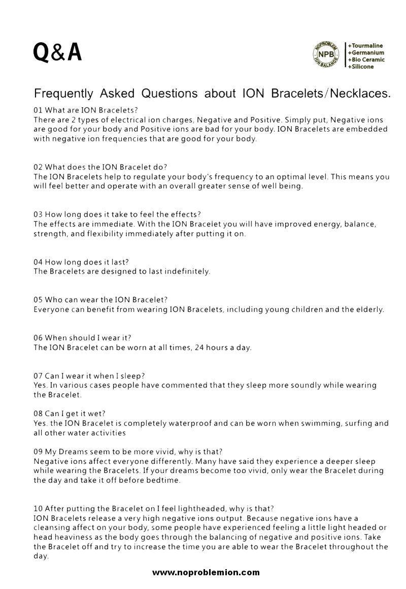 Noproblem Ion Balance Q&A