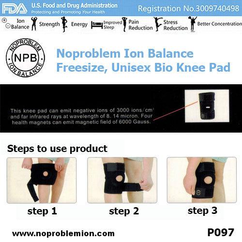 Noproblem Ion Balance Bio Knee Pad 3000 ions P097 US FDA