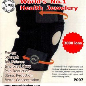 Noproblem Unisex Freesize Bio Knee Pad 3000 ions 6000 gauss P097