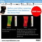 Noproblem Unisex Freesize Bio Knee Pad 3000 ions P097 Far-Infrared Test