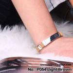 Noproblem Ion Balance Health Bracelet (P054) (Light Brown)