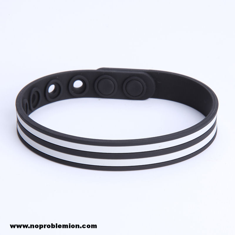 slim lines reversible waterproof black sport com medical bracelet alert dp incl engraving amazon