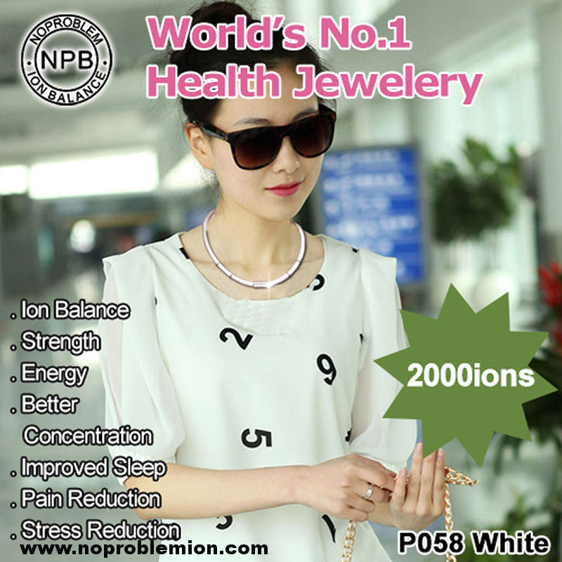 NPB World Number 1 2000 ions Energy Health Necklace P058