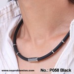 P058 Unisex Waterproof Titanium 2000 ions Black